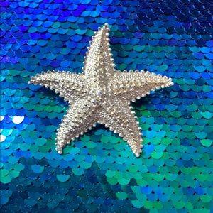 Vintage Gold Starfish Beach Lover Pin Brooch
